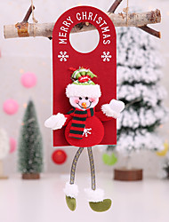 cheap -Christmas Decorations Christmas Hanging Red Non-woven Door Hanging Small Pendant