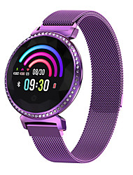 cheap -Smartwatch Digital Modern Style Sporty 30 m Water Resistant / Waterproof Heart Rate Monitor Bluetooth Digital Casual Outdoor - Purple Gold Silver