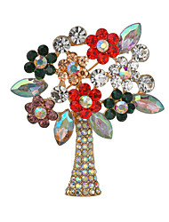 cheap -Women's Brooches Classic Christmas Tree Classic Casual / Sporty Ethnic Folk Style Brooch Jewelry Gold / Pink Gold Silver For Christmas Party Gift