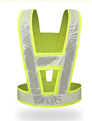 cheap -Reflective Vest High Visibility Crossing Guard Safety Vest Reflective Traffic Clothing Fluorescent Workwear To Work V-Type