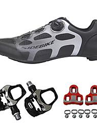 cheap -SIDEBIKE Adults' Bike Shoes Breathable Road Cycling Cycling / Bike Recreational Cycling Black Men's Women's Cycling Shoes