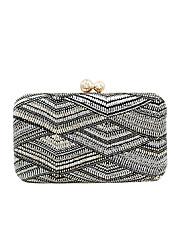 cheap -Women's Buttons Polyester / Alloy Evening Bag Geometric Pattern Black Grey