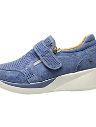 cheap -Women's Sneakers Flat Heel Round Toe Faux Leather Fall & Winter Blue / Beige / Gray / Party & Evening