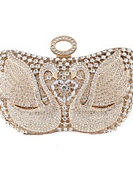 cheap -Women's Bags Polyester Clutch Crystals Wedding Bags Party Daily Black Gold Silver