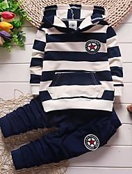cheap -Toddler Boys' Active Striped Long Sleeve Clothing Set Black