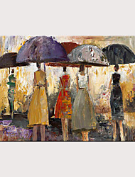 cheap -Oil Painting Hand Painted - Abstract People Classic Vintage Rolled Canvas