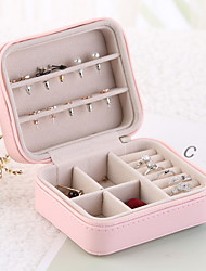cheap -Fantastic Boom Jewelry Box, Travel Jewelry Organizer for Women,Travel Organizer, PU Leather Jewelry case for Earrings,  Rings,