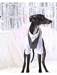 Недорогие -Собаки Коты Животные Костюм Одежда для собак Синий Хаки Костюм Полиэстер Контрастных цветов Свадьба XS S XL XXL XXXL