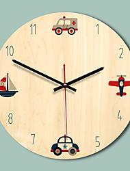 Недорогие -m.sparkling 2019 новые деревянные настенные часы современный дизайн 11 дюймов круговой немой уникальный подарок красочная печать