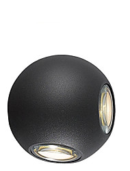 cheap -Hotel Corridor Round Ball 12W Four - Side LED Decorative Wall Lamp
