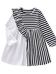 cheap -Toddler Girls' Striped Dress Blue