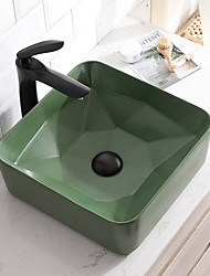 cheap -Bathroom Sink Contemporary - Glass Square Vessel Sink