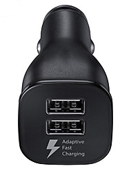 cheap -Original Samsung Car Charger Dual USB Adaptive Fast Adapter  For Galaxy S6 S7 S8 S9 Plus Note 4 8 9 10