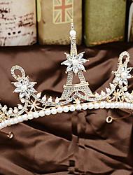 cheap -Pearl / Rhinestone / Alloy Tiaras with Pearl / Crystals / Rhinestones 1 Piece Wedding Headpiece