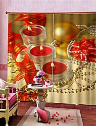 Недорогие -Рождественские украшения дома роскошные затемненные полиэфирные занавески для гостиной, спальни