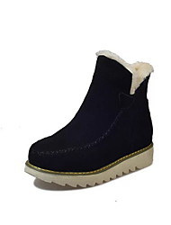 cheap -Women's Boots Snow Boots Flat Heel Round Toe Booties Ankle Boots Daily PU Black Yellow Beige / Booties / Ankle Boots / Booties / Ankle Boots