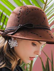 cheap -Elizabeth The Marvelous Mrs. Maisel Women's Adults' Ladies Retro Vintage Cloche Hat Hat Black Brown Red Solid Colored Vintage Wool Headwear Lolita Accessories