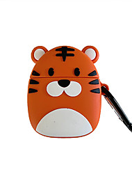 cheap -Cartoon Cute Little Tiger Airpods1/2 Generation Wireless Bluetooth Headset Set Silicone Sleeve Men and Women Personality Protective Sleeve