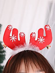 cheap -2pcs Christmas Deer Headband Christmas Ear Hair Head Accessories Photography Accessories Adult Woman Universal