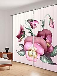 abordables -Papillon rose impression numérique 3d rideau rideau ombrage haute précision tissu de soie noire haute rideau de puality