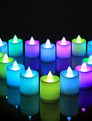 cheap -LED Tea Light Staycation Night Light Electronic Candle LED Light Mini Colorful Romantic Smokeless Candle Lamp Flameless Wedding Birthday Party Christmas 1pc