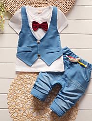 cheap -Baby Boys' Basic Print / Color Block Short Sleeve Regular Regular Clothing Set White