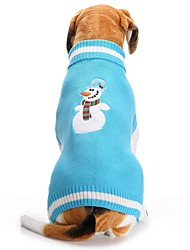 cheap -Dog Sweater Snowflake Embroidered Casual / Daily Sweet Winter Dog Clothes Blue Costume Acrylic Fibers XXS XS S M L XL
