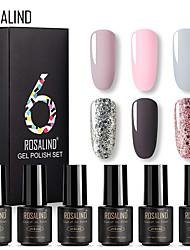 abordables -rosalind set couleur unie vernis à ongles en boîte 6 bouteilles