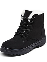 cheap -Women's Boots Snow Boots Flat Heel Round Toe Suede Booties / Ankle Boots Fall & Winter Black / Burgundy / Blue