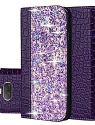 Недорогие -Кейс для Назначение Sony Sony Xperia L3 / Sony Xperia 10 / Sony Xperia 10 Plus Бумажник для карт / Сияние и блеск Чехол Сияние и блеск Кожа PU