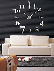 Недорогие -специальное предложение 3d реальные большие настенные часы гостиная diy часы спешил зеркало стикер стены современный дизайн