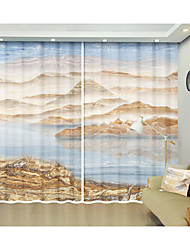 cheap -Reflected Digital Printing 3D Curtain Shading Curtain on Marble Patterns High Precision Black Silk Fabric High Quality First-class Shading Bedroom Living Room Curtain