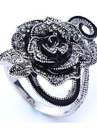 cheap -Women's Ring 1pc Silver Chrome Imitation Diamond Round Stylish Gift Daily Jewelry Classic Flower Cool