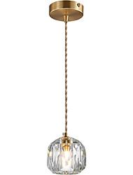 cheap -1-Light CXYlight 11 cm Pendant Light Copper Crystal Modern / Nordic Style Generic