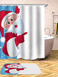 cheap -Shower Curtains Contemporary Polyester Machine Made Waterproof Bathroom