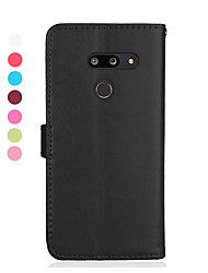 cheap -Phone Case For LG Full Body Case Leather LG V40 LG V50 LG Stylo 4 LG Stylo 5 LG K40 LG G7 LG G8 Magnetic Auto Sleep / Wake Up Solid Colored PU Leather TPU