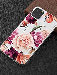 cheap -Case For Apple iPhone 11 / iPhone 11 Pro / iPhone 11 Pro Max Transparent / Pattern Back Cover Flower TPU
