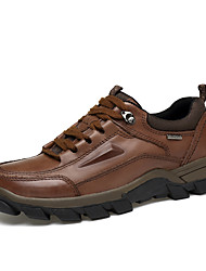 cheap -Men's Leather Shoes Nappa Leather Spring / Fall & Winter Business / British Athletic Shoes Hiking Shoes / Walking Shoes Non-slipping Light Brown / Dark Brown