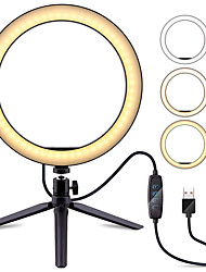 "cheap -6.3"" Selfie Ring Light TikTok Light Youtube Video Camera with Tripod Stand Dimmable 1 set LED Camera Ringlight for Live Stream Blogger Makeup Youtube Video Photography USB"