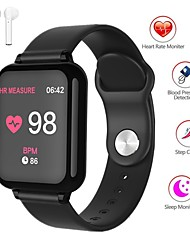 cheap -Indear QW-B57 Men Women Smart Bracelet Smartwatch Android iOS Bluetooth Waterproof Touch Screen Heart Rate Monitor Blood Pressure Measurement Sports Timer Stopwatch Pedometer Call Reminder Activity