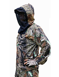 cheap -Men's Hunting Jacket with Pants Outdoor Waterproof Windproof Breathable Warm Spring Fall Winter Camo / Camouflage Clothing Suit Cotton Camping / Hiking Hunting Fishing Camouflage / 5pcs / Quick Dry