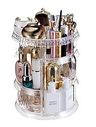 cheap -High-grade quality transparent acrylic sense 360 degree rotating makeup box storage box family dressing table Organizer Case