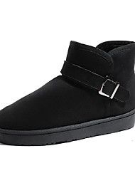 cheap -Women's Boots Snow Boots Flat Heel Round Toe Tassel Satin Booties / Ankle Boots Casual Walking Shoes Fall & Winter Black / Brown / Gray
