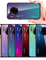 cheap -luxury Gradient Tempered Glass Case For Huawei Mate 30 Pro Mate 30 Lite Mate 20 Pro Mate 20 Lite Shockproof Back Cover Silicone Soft TPU Frame Protective