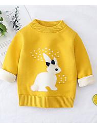 cheap -Toddler Girls' Basic Print Long Sleeve Sweater & Cardigan Blushing Pink
