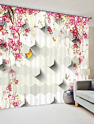 cheap -Red Lianhua Digital Printing 3D Curtain Shading Curtain High Precision Back Silk Fabric High Quality Curtain