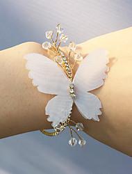 cheap -Wedding Flowers Wrist Corsages Wedding Party Chiffon 0-10 cm