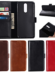 cheap -Case For Huawei Huawei P20 / Huawei P20 Pro / Huawei P20 lite Wallet / Card Holder / Flip Full Body Cases Solid Colored PU Leather / TPU