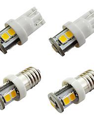 Недорогие -10 шт. E10 светодиодные лампы 7 smd 2835 ширина приборной панели автомобиля лампы белый теплый белый dc 12 В 1 Вт