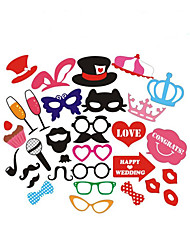 cheap -Christmas / Party Party Accessories Photo Booth Props & Signs Trim / Patterned Non-woven Paper / High Quality Paper Holiday / Creative